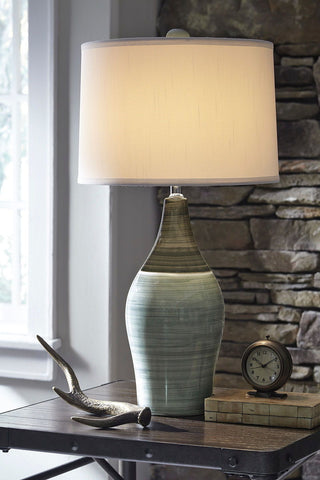 Niobe Table Lamp Multi Gray Ceramc 2