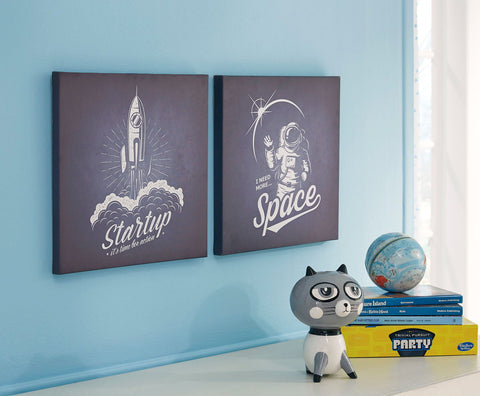Shop Ashley Furniture Draco Black/White Wall Art Set (2/CN) at Mealey's Furniture