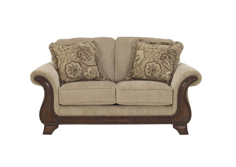 Shop Ashley Furniture Lanett Barley Loveseat at Mealey's Furniture