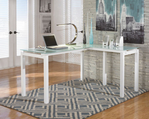 Shop Ashley Furniture Baraga L Desk at Mealey's Furniture
