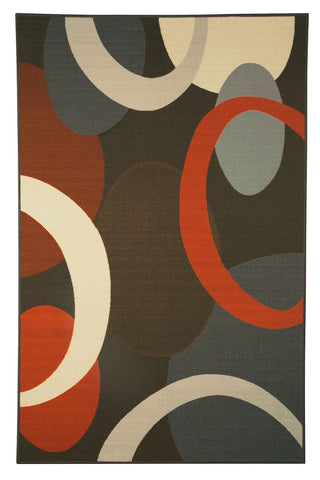 Shop Ashley Furniture Acciai Brown/Blue Medium Rug at Mealey's Furniture
