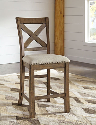 Shop Ashley Furniture Moriville Barstool at Mealey's Furniture