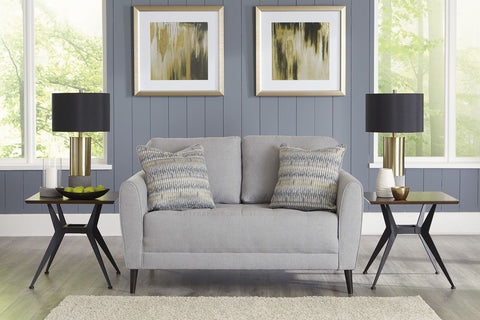 Shop Ashley Furniture Cardello Pewter Loveseat at Mealey's Furniture