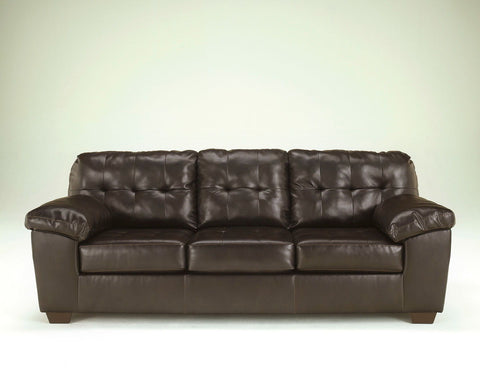 Shop Ashley Furniture Alliston Dura Blend Chocolate Sofa at Mealey's Furniture