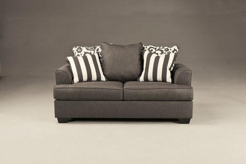 Shop Ashley Furniture Levon Charcoal Loveseat at Mealey's Furniture