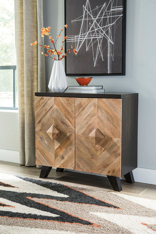 Shop Ashley Furniture Robin Ridge Two-tone Brown Door Accent Cabinet at Mealey's Furniture