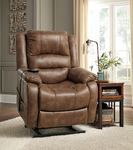 Shop Ashley Furniture Yandel Saddle Power Lift Recliner at Mealey's Furniture