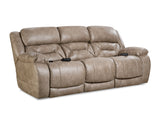 Shop Home Stretch Triple Mushroom So Mushroom  Power Reclining Sofa at Mealey's Furniture