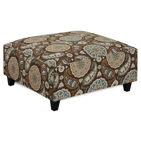 Shop Fusion Artisan   Turquoise Cocktail Ottoman at Mealey's Furniture