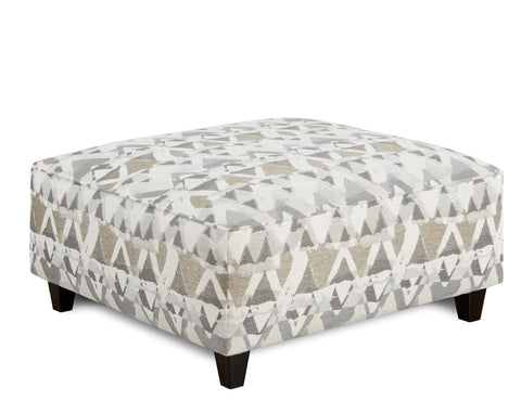 Shop Fusion Alton Silver Cocktail Ottoman at Mealey's Furniture
