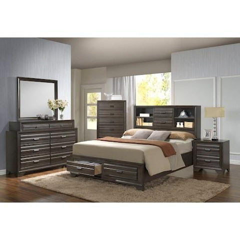 Shop Lifestyle C5236A Antique Grey Full Bed with Dresser and Mirror at Mealey's Furniture