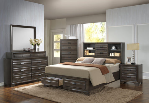 Shop Lifestyle C5236A Antique Grey Queen Storage Bed at Mealey's Furniture