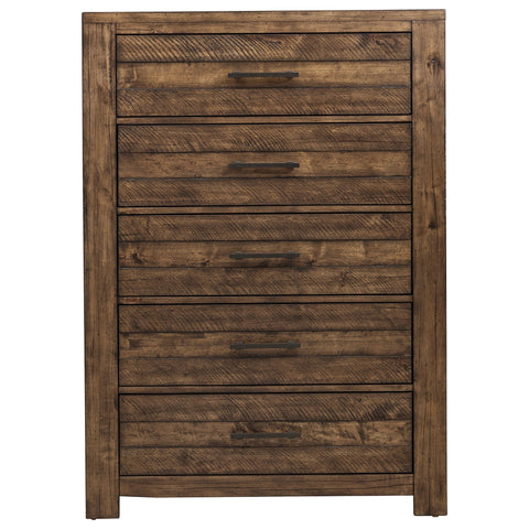 Shop Samuel Lawrence Dakota Brown 5 Drawer Chest at Mealey's Furniture