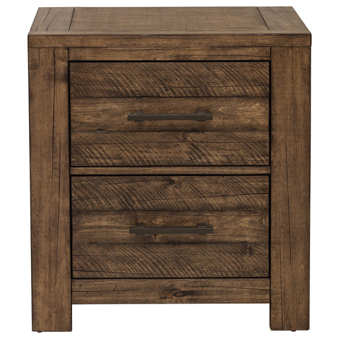 Shop Samuel Lawrence Dakota Brown 2 Drawer Nightstand at Mealey's Furniture