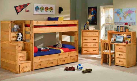Shop Trendwood Bunkhouse Twin Over Twin Bunk Bed at Mealey's Furniture