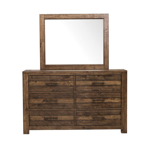 Shop Samuel Lawrence Dakota Brown Dresser & Mirror at Mealey's Furniture