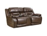 Shop Home Stretch Triple Walnut Walnut Power Reclining Loveseat With Console at Mealey's Furniture
