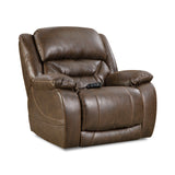 Shop Home Stretch Triple Walnut Walnut Power Recliner at Mealey's Furniture