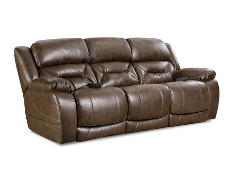 Shop Home Stretch Triple Walnut Walnut  Power Reclining Sofa at Mealey's Furniture