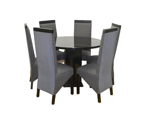 Lady Di 7 Piece Dining Room Suite (Round table)