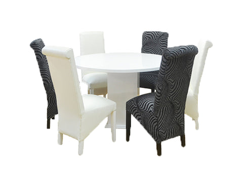 Marigold Dining Set – Round 7 Piece