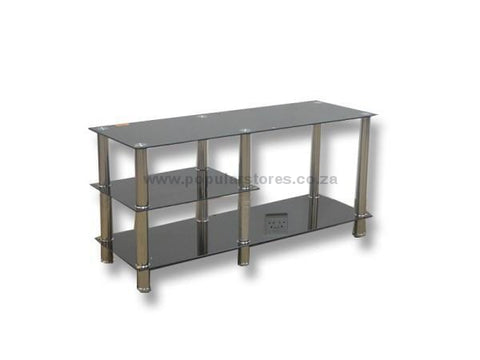 Glass 2 Tier Plasma Stand