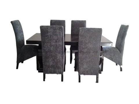 June Dinning Set Grey And Black