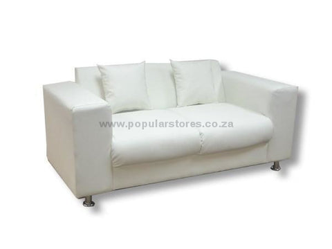 Levi 2 Seater White / Length 192Cms X Height 95Cms Width 82Cms