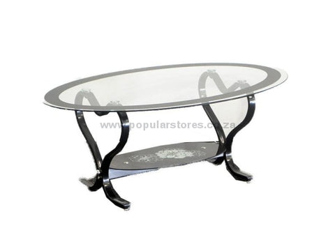 Oval Coffee Table Black