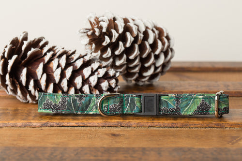 Green Poinsettia Cat Collar