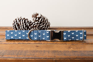 Blue Knit Dog Collar