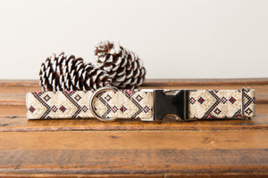 Neutral Christmas Aztec Dog Collar