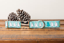 Load image into Gallery viewer, Mint Christmas Trees Dog Collar