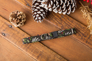Black Pine Needles Cat Collar