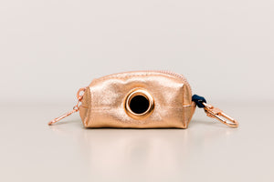 Rose Gold Jewel Tone Waste Bag Holder