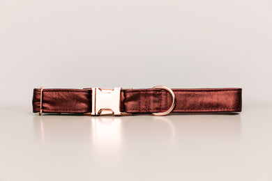 Rust Jewel Tone Dog Collar