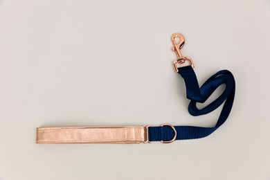 Rose Gold Jewel Tone Matching Dog Leash