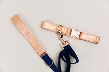 Load image into Gallery viewer, Rose Gold Jewel Tone Dog Collar