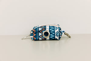 Navy Blue Aztec Waste Bag Holder