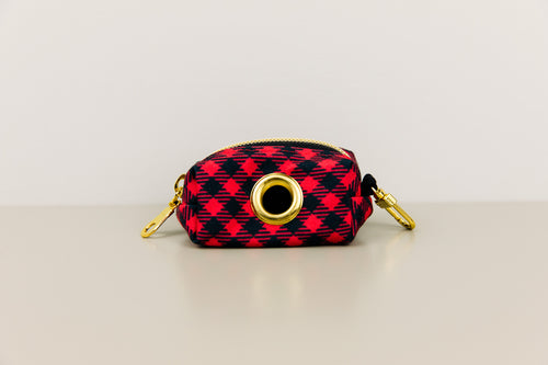 Buffalo Plaid Waste Bag Holder