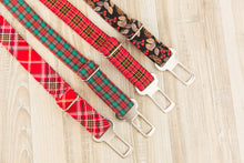 Load image into Gallery viewer, Green and Red Plaid Dog Seatbelt