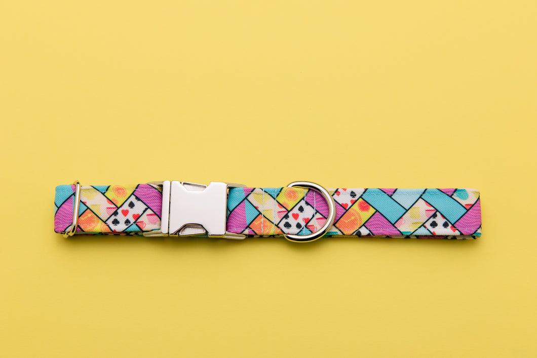 Alice in Wonderland Inspired Dog Collar