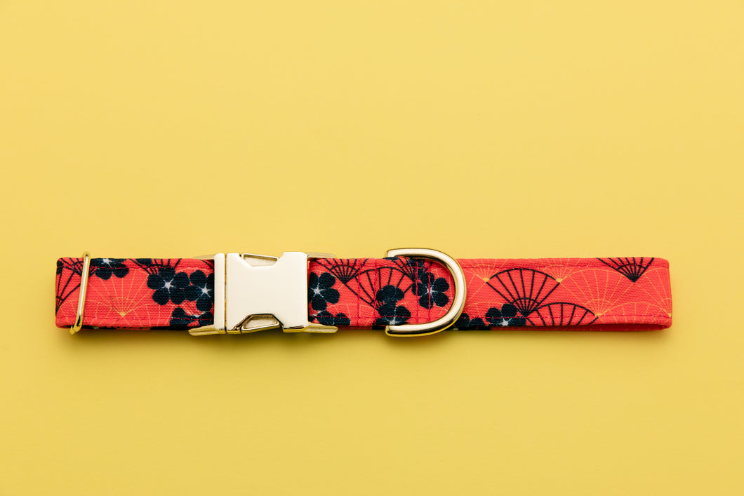 Mulan Inspired Dog Collar