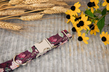 Load image into Gallery viewer, Burgundy Floral Dog Collar