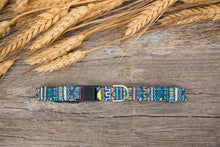 Load image into Gallery viewer, Blue Tribal Cat Collar