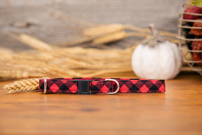 Red Buffalo Plaid Cat Collar