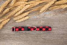 Load image into Gallery viewer, Red Buffalo Plaid Cat Collar