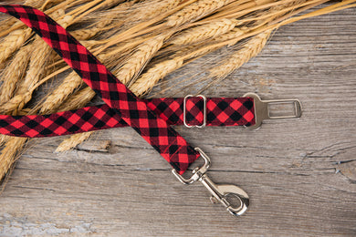Buffalo Plaid Dog Seatbelt