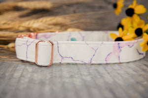 White Marble Dog Collar