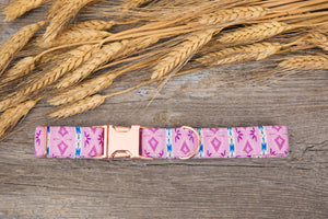 Purple Tribal Dog Collar